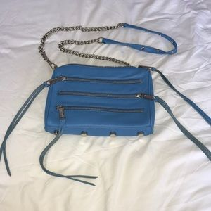 Blue Rebecca Minkoff side bag in Blue
